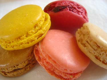 Parisian macaroons (macarons) at Laduree, where, if they werent invnted they are sold by the 10s of thousand per day.