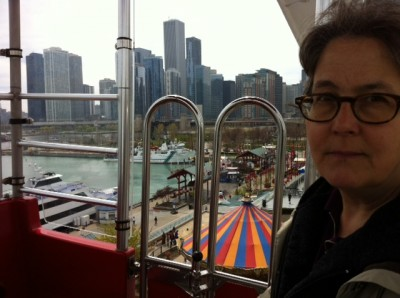 Deb on the Ferris Wheel