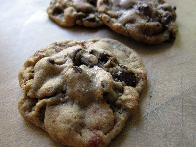 Salted, Nutella-Stuffed, Chocolate Chip Cookies