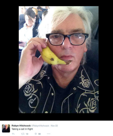 Robyn Hitchcock selfie, I think on the plane from the Twins to Chicago
