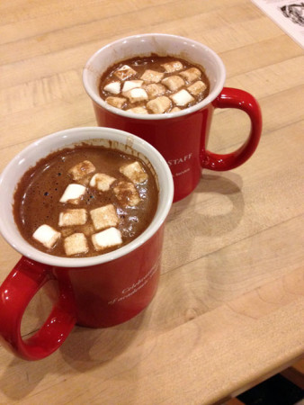 Post-opera hot chocolate. I don't think Mark finished his - dumped it down the sink when he thought I wasn't looking.