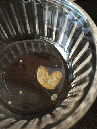Heart-shaped potato chip I found on Monday night.
