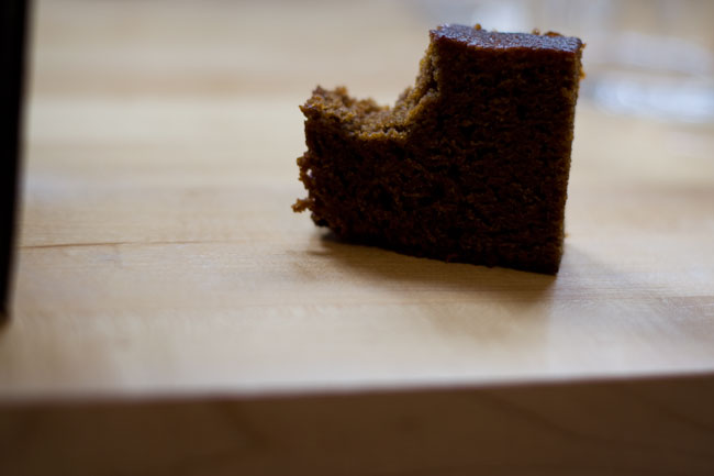 Black sticky gingerbread