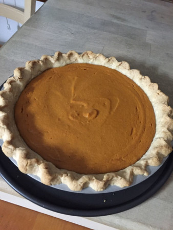 Sweet potato pie with a lard crust