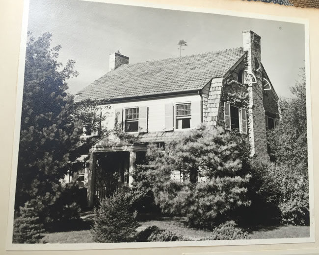 My grandmother's house in 1951, from my mother's wedding photo album - August 19th, 1951, to be precise