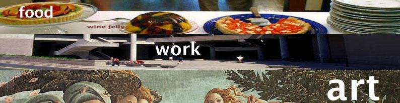 food, work, art