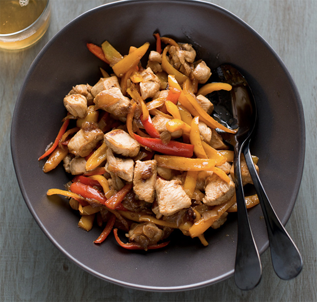 chicken stir fry with peppers