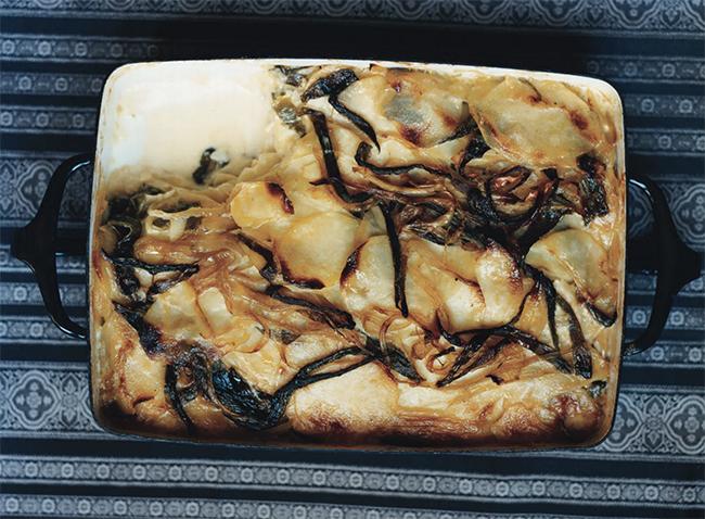 potato poblano gratin